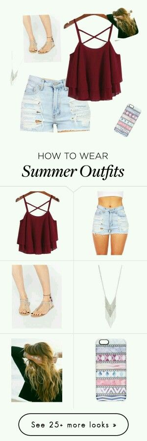 Like the idea of the crop top with high waisted shorts