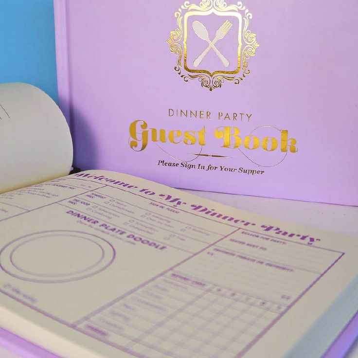 Dinner party guestbook - Galison  - 9781601064516