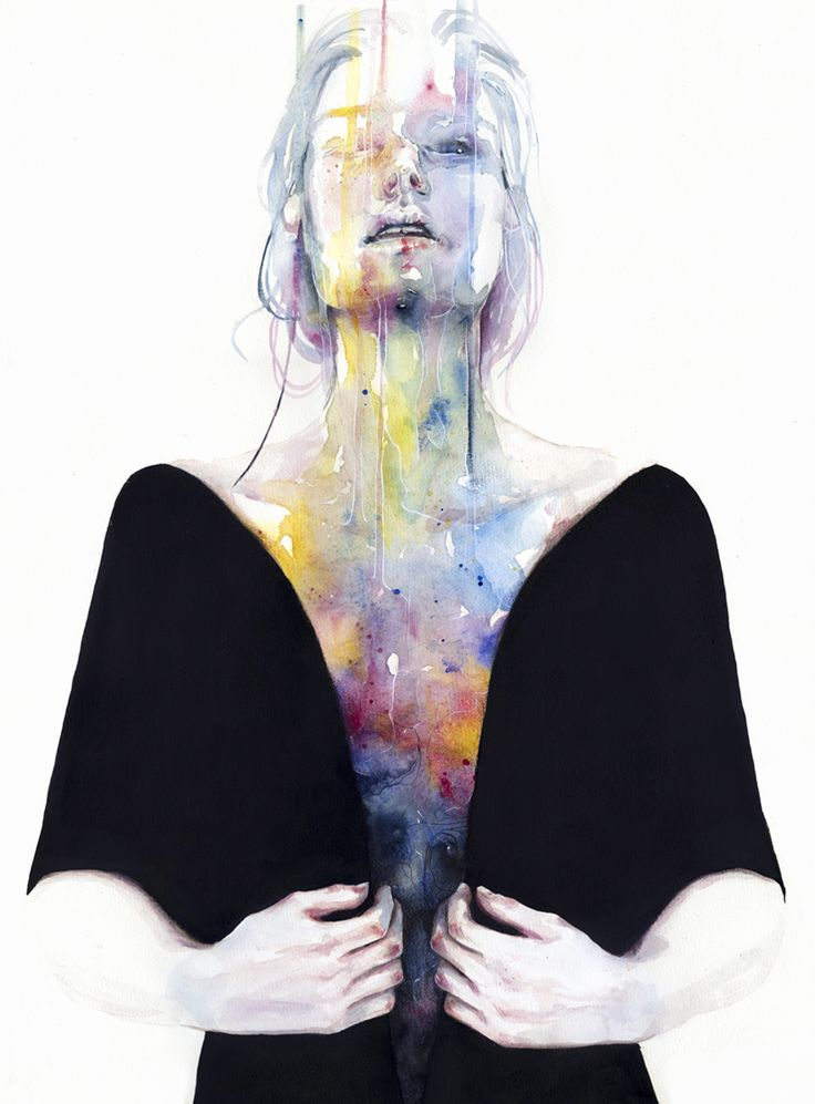 trabajo en acuarela realizado por la artista Agnes Cecile
