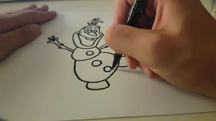 Olaf zeichnen [die Eiskönigin] - Wie zeichnet man Olaf aus Frozen? [Disney]