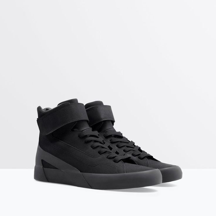 BASKETS MONTANTES VELCRO-Baskets-Chaussures-HOMME | ZARA France