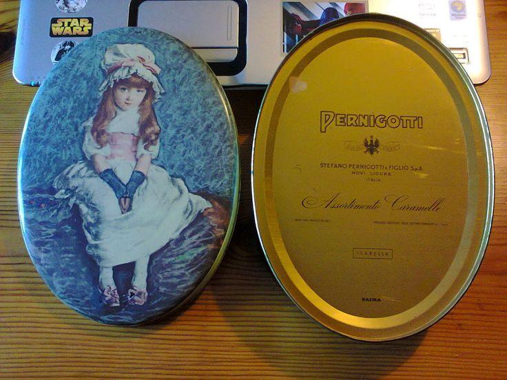 SCATOLA LATTA PERNIGOTTI Caramelle ISABELLA anni  60 -  70