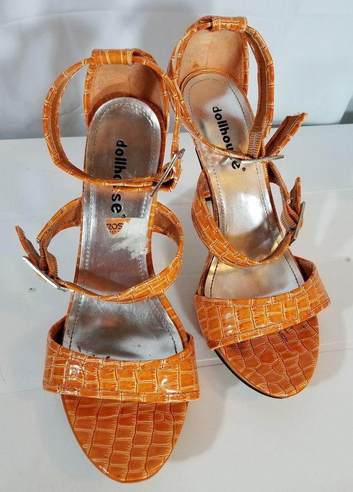 Dollhouse Strap Stilettos Womens Ankle Size Peep Sandal 8 Heels eWEDIYH92
