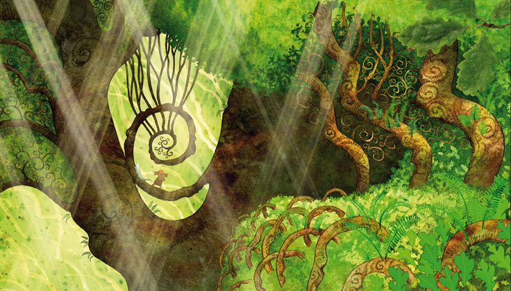 """The Secret of Kells"" animated movie.  How can one not be inspired by the detailed artistry of this movie?"