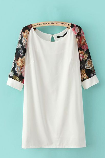 White with a touch of Floral Summer Dressing - must make something similar. find…: