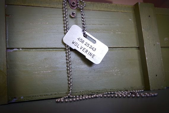 Wolverine Canadian Military Dog Tag  Screen Accurate
