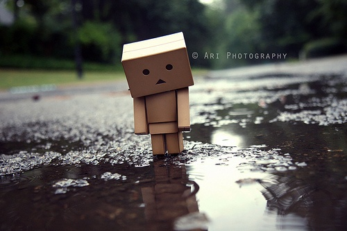 sad box in the rain... | What Is Art in 2019 | Box robot ...