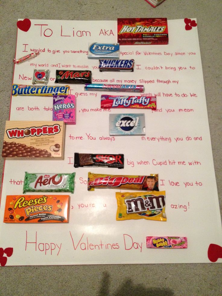 Valentine 39 S Day Candy Bar Poem