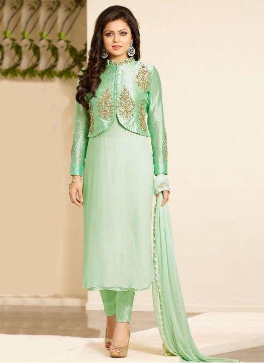 Drashti Lime Green Churidar Salwar Suit