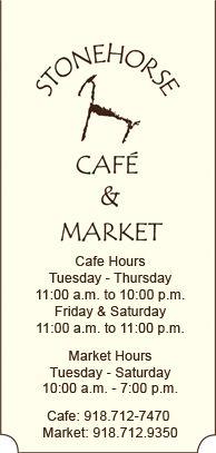 Stonehorse Café & Market in Tulsa's Utica Square. Simply brilliant cuisine.