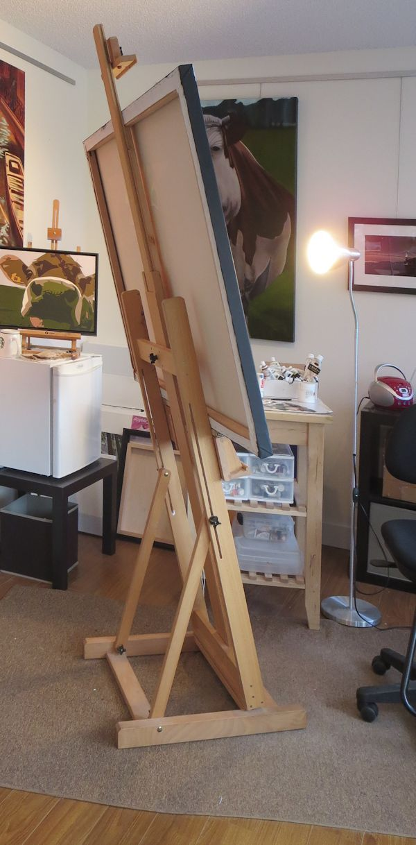 How To Build An H Frame Easel - WoodWorking Projects & Plans