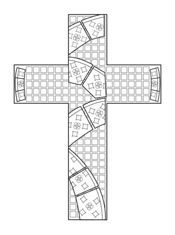 Mosaico en forma de cruz Dibujo