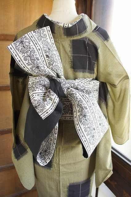 *半巾帯の変り結び紹介(分かりにくいと思います)*