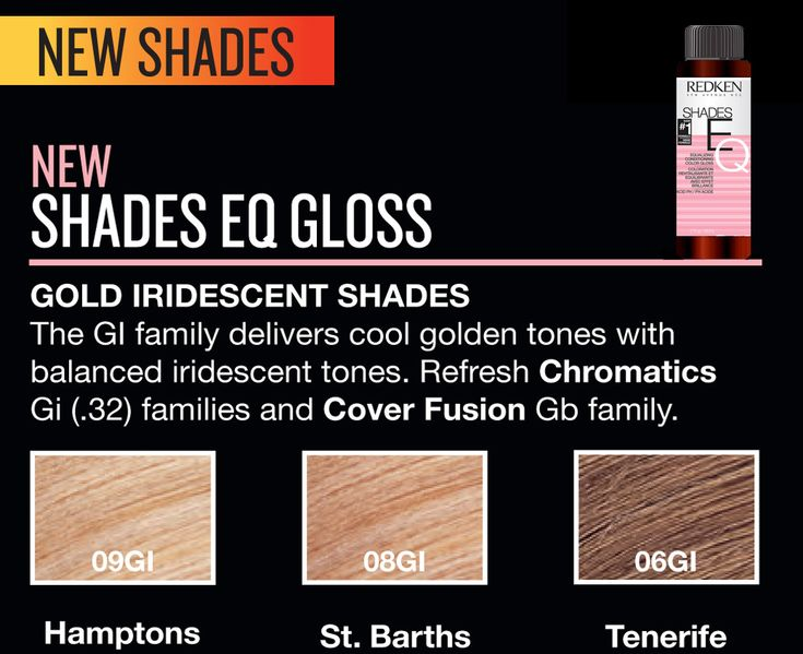 Redken New Shades EQ Gloss.                                                                                                                                                                                 More