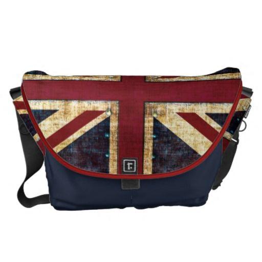 Grunge Union Jack messenger bag