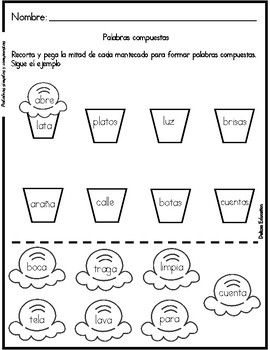 Palabras simples y compuestas |  Simple and compound words