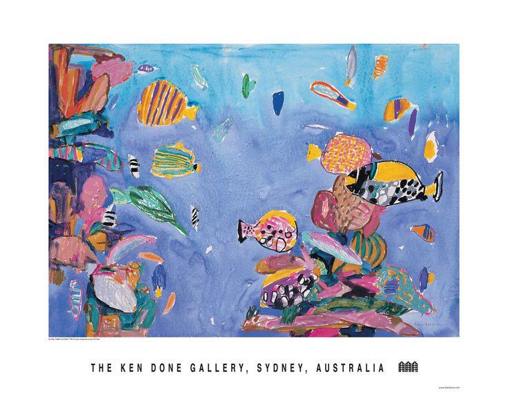 Ken Done - shop / posters / october coral-head