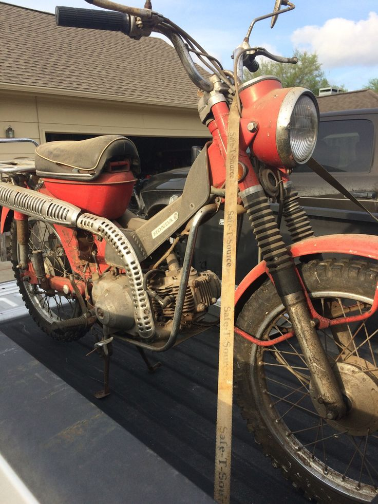 This was my 1st motorcycle - a Honda Trail 90 cc dirt bike. About to restore and enjoy.