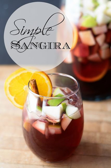 Must try...sounds delicious...Simple Sangria Recipe - The Kim Six Fix