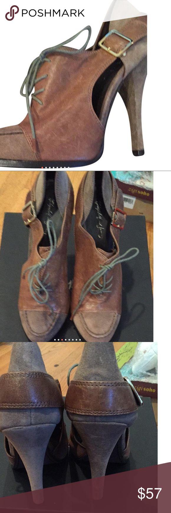 New Elizabeth & James 10 suede heels Lace up heels, final reduction unless bundled for additional 10%. Elizabeth and James Shoes Heels