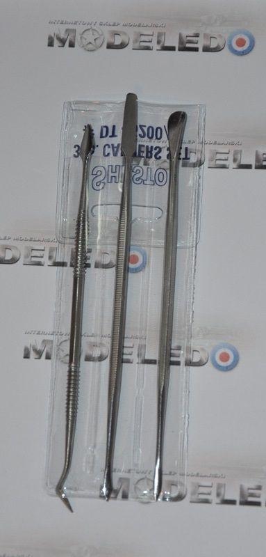 Italeri 50819 Zestaw - 3 dłuta modelarskie dwustronne