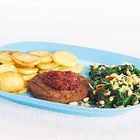 Recept - Roergebakken spinazie met pijnboompitten - Allerhande