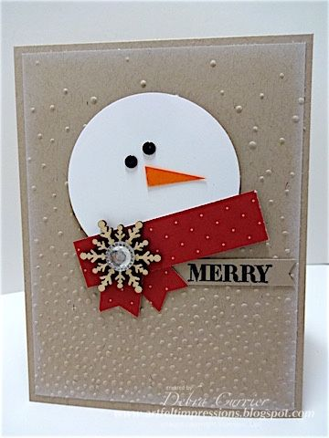 Merry Snowman by pdncurrier - Cards and Paper Crafts at Splitcoaststampers