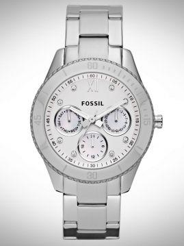 Fossil Horloge Dames Staal met Datum STELLA  (AvB)