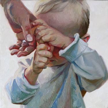 "Saatchi Art Artist Anastasia Shimshilashvili; Figurative Painting, ""Relation"" #art"