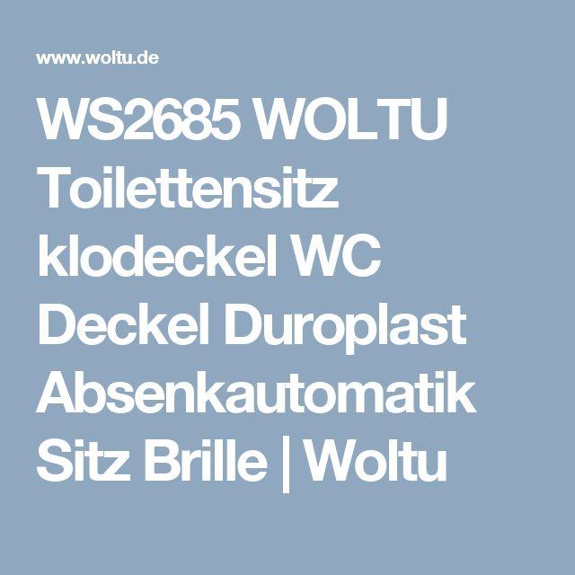 WS2685 WOLTU Toilettensitz klodeckel WC Deckel Duroplast Absenkautomatik Sitz Brille   Woltu