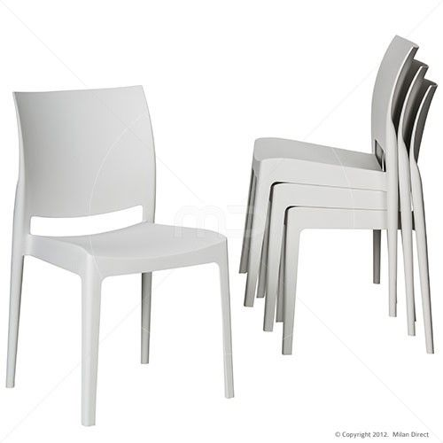 Set of 4 - Maya Stackable Chair - White