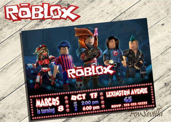 Roblox Invitation Roblox Party Roblox Birthday Roblox