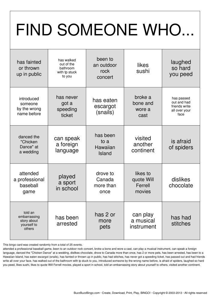 David Scrimshaw's Blog: Human Bingo - The Ultimate Party Mixer |Christmas Bingo Questions Funny