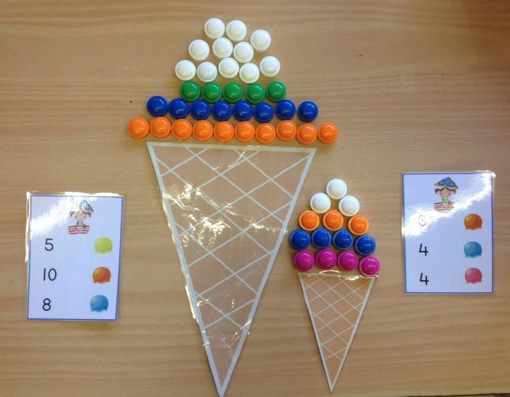 Bolletjes ijs tellen met tel kaarten!
