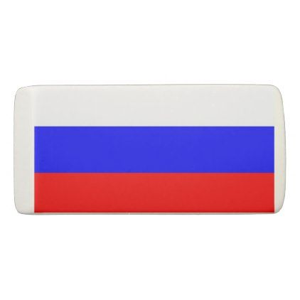 Patriotic Wedge Eraser with flag of Russia - stylish gifts unique cool diy customize
