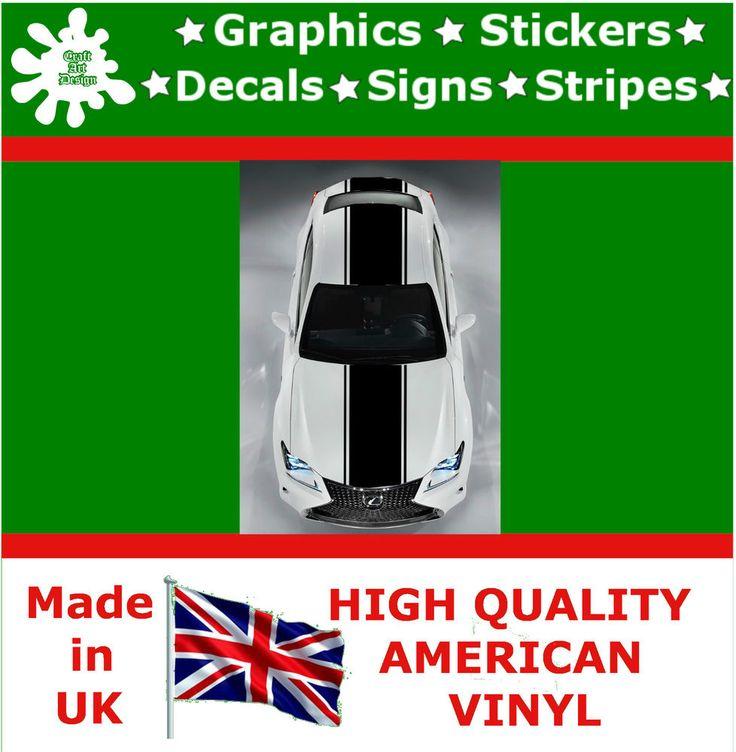 "18.5"" Racing Stripes Sticker Vinyl Decal Car Auto Rally Graphic JDM TQ15_18.5"