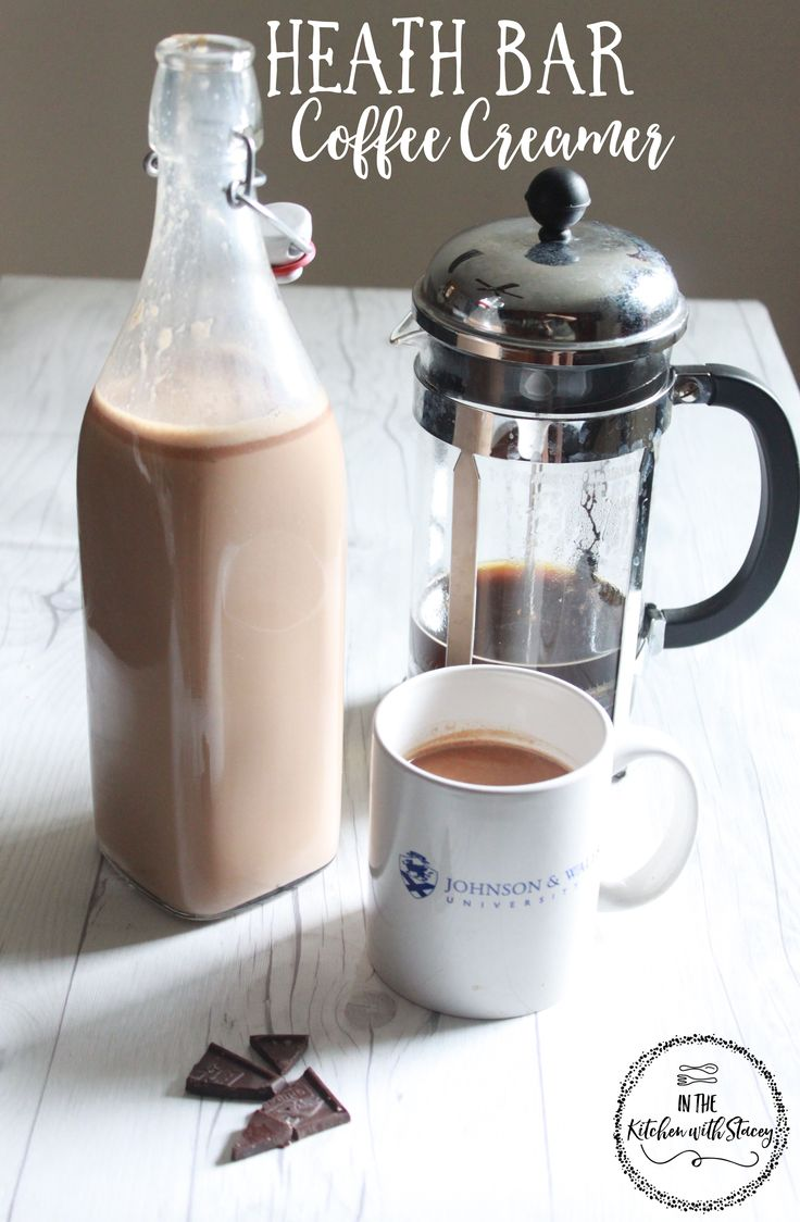 Heath Bar Coffee Creamer Recipe. An easy coffee creamer to make and you know…