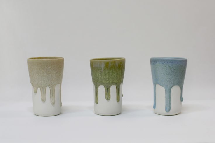 Flowing  cup,porcelain,melting matte glaze,slip casting. JaHyeon Jeon Work. 2014. korea.