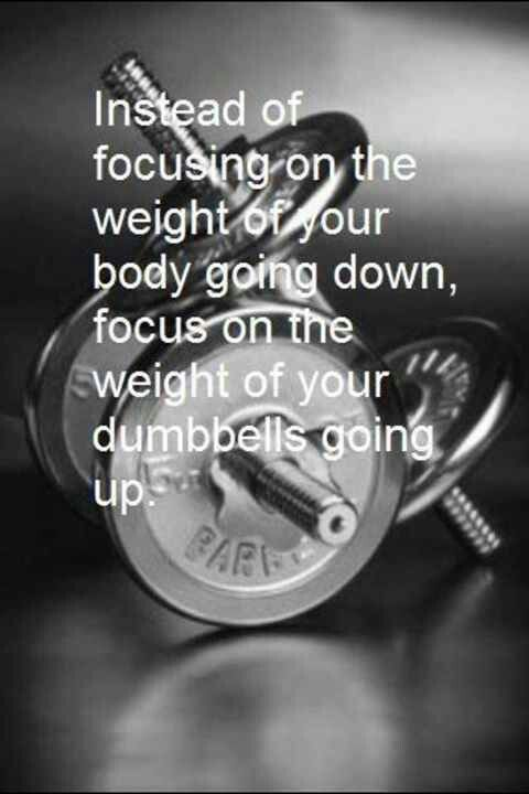 Instead of focusing on the weight of your body going down, focus on the weight of your dumbbells going up. #fitness #tothelimit