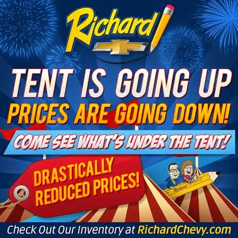 Summer is finally here and that means itu0027s time for the Richard Chevrolet Summer Tent Sale ! The tent is going up and .  sc 1 st  Pinterest & 132 best Richard Chevy Blog images on Pinterest | Cars ...