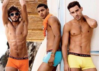 Arthur Kulkov, Marlon Teixeira + Tidiou M'Baye Pose for Tommy Hilfiger Summer 2014 Underwear Campaign