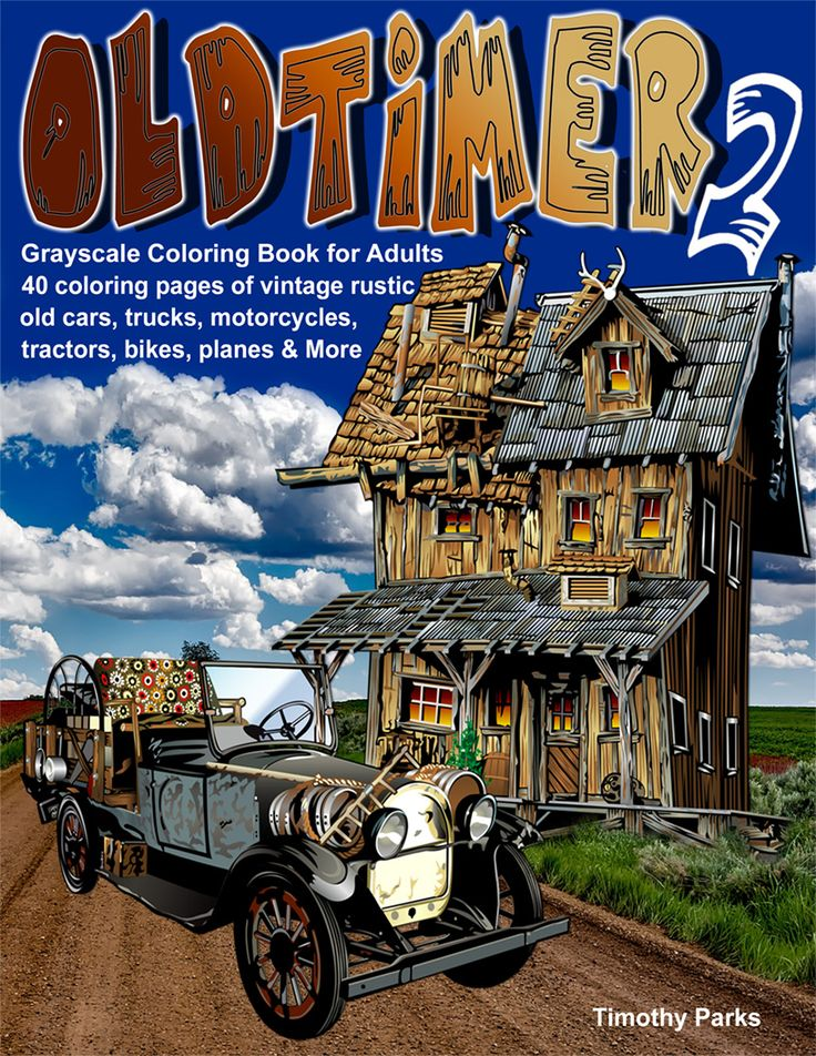 162 best Coloring Books I Own images on Pinterest Adult coloring - best of coloring pages antique cars