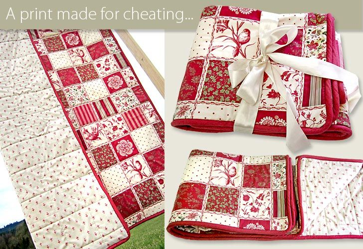 Cheater Quilt with piping details: Quilting Sewing, Easy Quilt, Sewing Projects, Cheaters Quilt, Cheater Quilting, Cheater S Quilt, Cheater Quilts