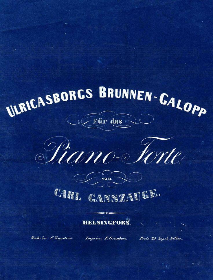 Ulricasborgs Brunnen-Galopp Für das Piano-Forte von Carl Ganszauge.