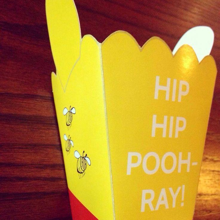 Winnie the Pooh popcorn boxes made by Such Fun www.suchfun.co.za