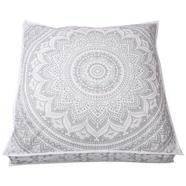 "Large 35/"" Floor Pillow Cover Cushion Meditation Seating Yoga Ottoman Throw Pillo"