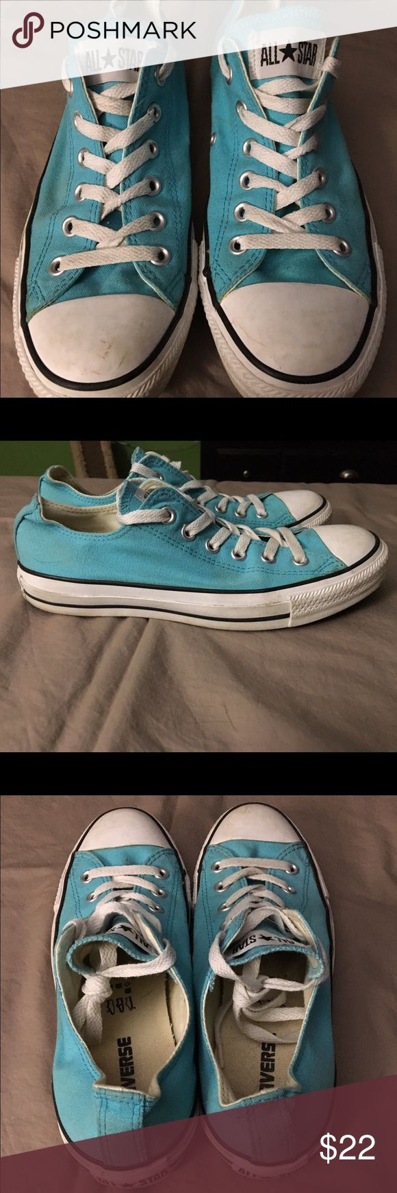 Turquoise Converse Turquoise converse. Hardly worn. Converse Shoes Sneakers