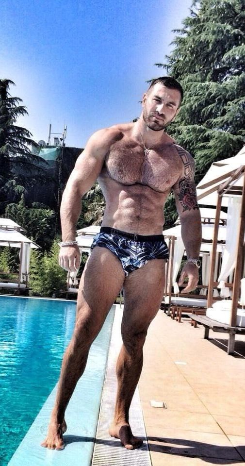 Refuse. naked hairy chested muscle men think
