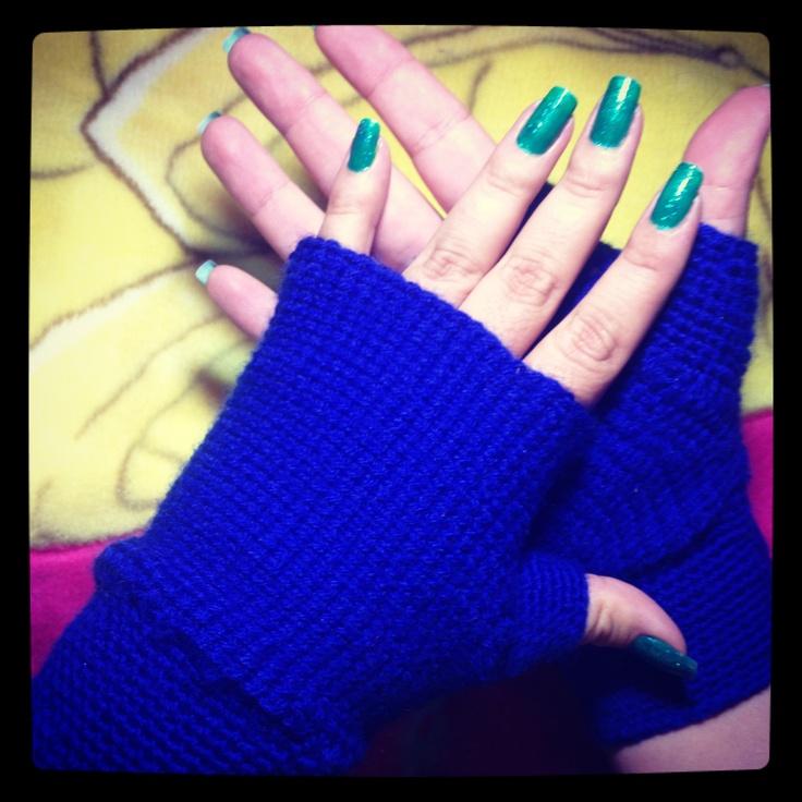 Cuarto trabajo en Crochet, guantes sin dedos.
