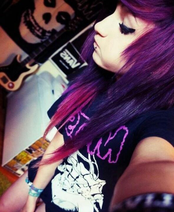 purple scene hair ombre hair styles pinterest scene